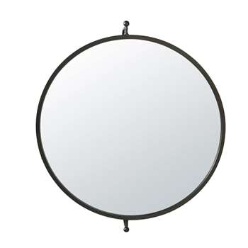 BRADFORD - Black Metal Adjustable Mirror (H60 x W69 x D10cm)