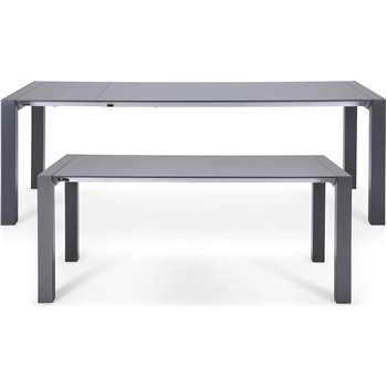 Bramante Extending Dining Table, Matt Grey (76 x 174-264cm)