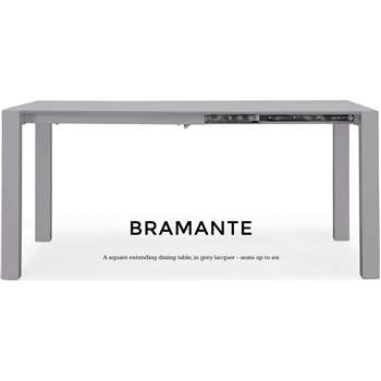 Bramante Square Extending Dining Table, Grey (76 x 103-170cm)