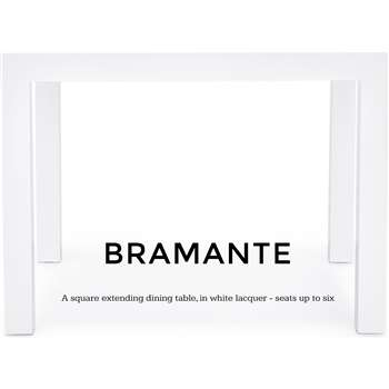 Bramante Square Extending Dining Table, White (76 x 103-170cm)