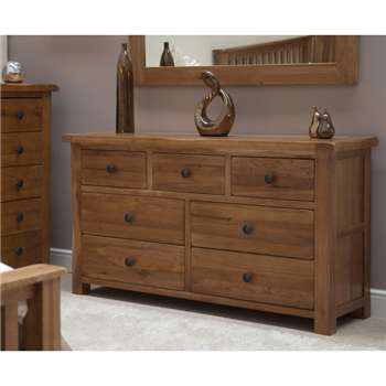 Bramley Oak 7 Drawer Chest (77 x 139cm)