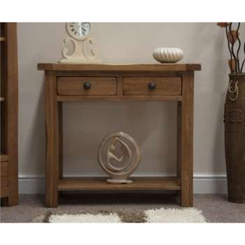 Bramley Oak Console Table (77 x 85cm)