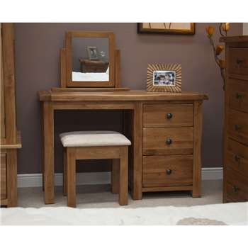 Bramley Oak Dressing Table with Stool (77 x 120cm)