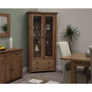 Bramley Oak Glass Display Cabinet (185 x 92cm)