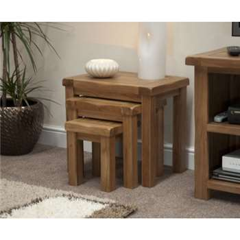 Bramley Oak Nest of Tables (49 x 52cm)