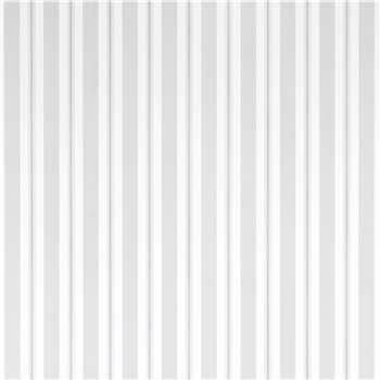Brampton Stripe Slate Grey Wallpaper