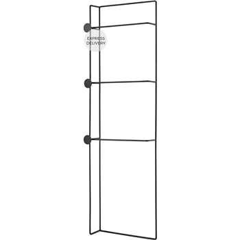 Bran Freestanding Towel Ladder, Black (H145 x W14 x D45cm)