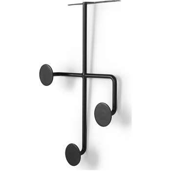 Bran Over The Door Hooks, Black (H35.5 x W24 x D10cm)
