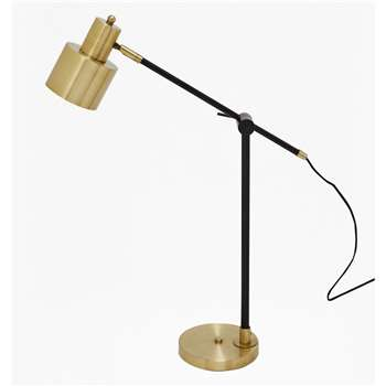 Brass And Matte Black Table Lamp (H61 x W46 x D15cm)