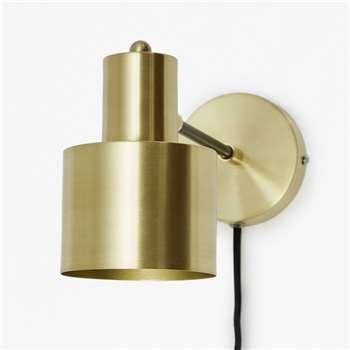 Brass And Matte Black Wall - Brass/Matte Black (15 x 10cm)