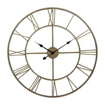 Brass Effect Indoor Clock (Diameter 78cm)