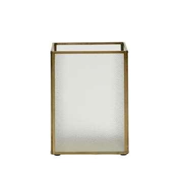 Brass Open Lantern, Small (H20 x W15 x D15cm)