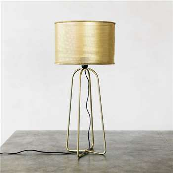Brass Perforated Table Lamp (H63 x W30 x D30cm)