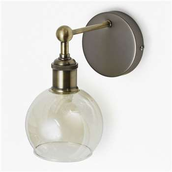 Brass Single Wall Light - Brass (15 x 10cm)