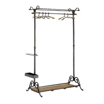 BRASSERIE Metal And Mango Wood Hanging Rail (170 x 100cm)