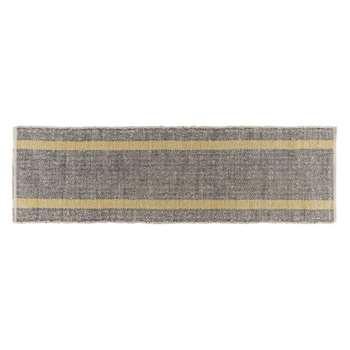 Brecan Grey wool blend runner 75 x 250cm