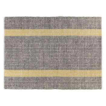 Brecan Medium grey wool rug 140 x 200cm