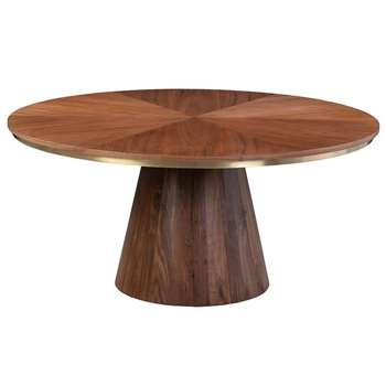 Brewster Walnut Dining Table (H75 x W160 x D160cm)