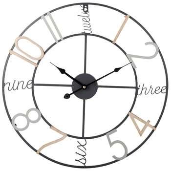 Bright Metal Clock (Diameter 50cm)