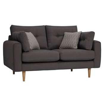 Brighton Charcoal Fabric 2 Seater Sofa (H86 x W155 x D98cm)