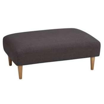 Brighton Charcoal Fabric Footstool (H83 x W99 x D63cm)