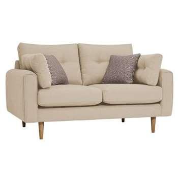 Brighton Parchment Fabric 2 Seater Sofa (H86 x W155 x D98cm)