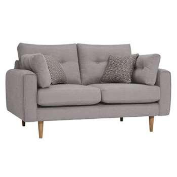 Brighton Pebble Fabric 2 Seater Sofa (H86 x W155 x D98cm)