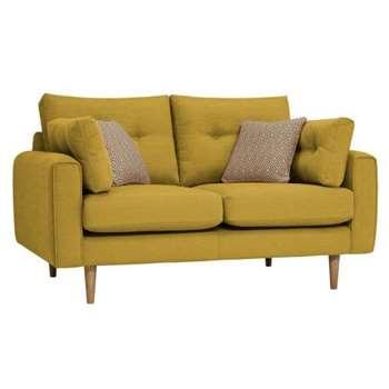 Brighton Saffron Fabric 2 Seater Sofa (H86 x W155 x D98cm)