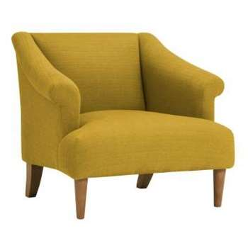 Brighton Saffron Fabric Accent Chair (H72 x W78 x D83cm)