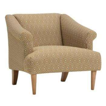 Brighton Saffron Fabric Accent Chair, Patterned (H72 x W78 x D83cm)