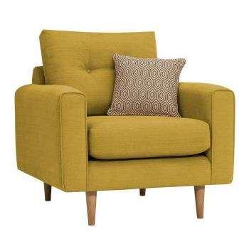 Brighton Saffron Fabric  Armchair (H86 x W93 x D94cm)