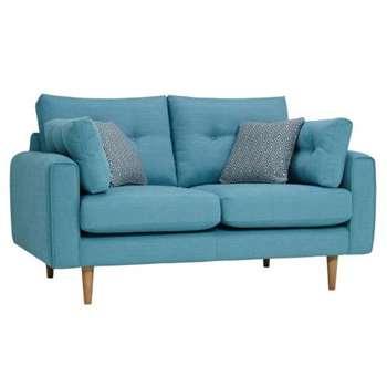 Brighton Sea Spray Fabric 2 Seater Sofa (H86 x W115 x D98cm)
