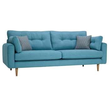 Brighton Sea Spray Fabric 4 Seater Sofa (H86 x W225 x D98cm)