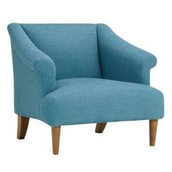 Brighton Sea Spray Fabric Accent Chair (H72 x W78 x D83cm)