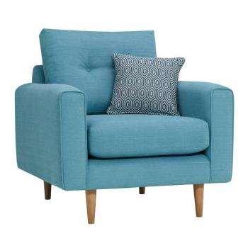 Brighton Sea Spray Fabric Armchair (H86 x W93 x D94cm)