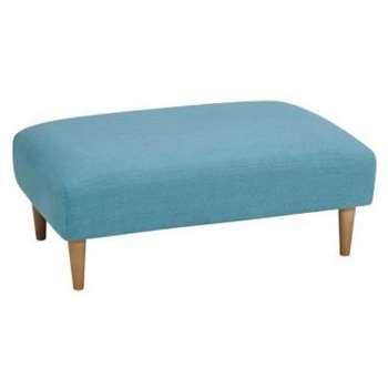 Brighton Sea Spray Fabric Footstool (H38 x W99 x D63cm)