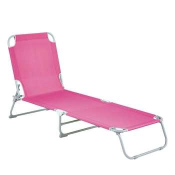 Brighton Sunlounger - Pink (77 x 185cm)
