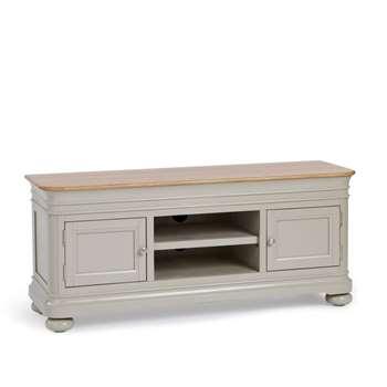 Brindle Natural Solid Oak & Painted Large TV Unit (H60 x W140 x D43cm)