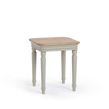Brindle Natural Solid Oak & Painted Side Table (H56 x W50 x D50cm)
