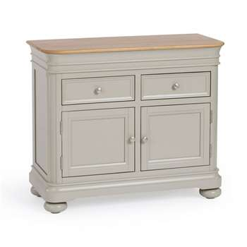 Brindle Natural Solid Oak & Painted Small Sideboard (H83 x W98 x D43cm)