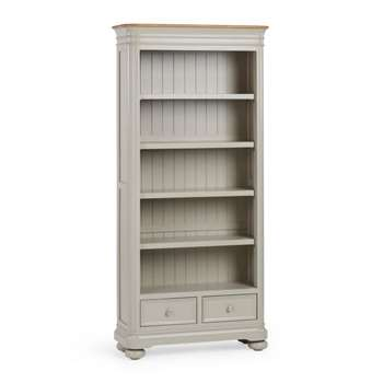 Brindle Natural Solid Oak & Painted Tall Bookcase (H190 x W89 x D33cm)