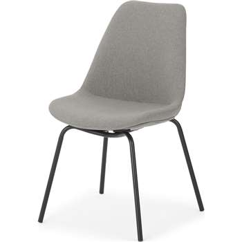 Briony Dining chair, Cool grey and Black (H49 x W85 x D54cm)