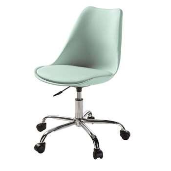 BRISTOL Green Office Chair on Castors (H79 x W48 x D54cm)