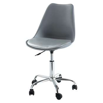 BRISTOL Office chair on castors in grey (80 x 53cm)