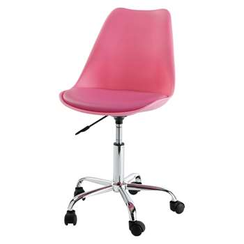 BRISTOL Office chair on castors in pink (80 x 53cm)