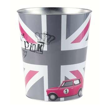 British girl waste paper basket (H27 x W23 x D23cm)