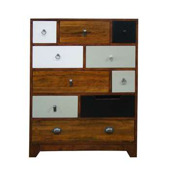British Vintage Chest Of 10 Drawers in English Cherry Finish 108 x 80cm