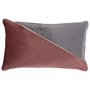 BRITNEY Pink and Silver Cushion Cover (H30 x W50cm)