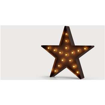 Broadway Star Floor Lamp, Black (78 x 75cm)