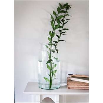 Broadwell Vase, Large - Recycled Glass (30 x 14.5cm)